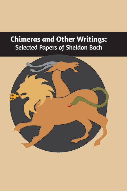 chimeras: papers of sheldon bach